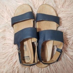 Clark's 2 strap navy sandals